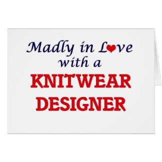 Madly in love with a Knitwear Designer Card