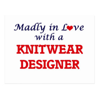 Madly in love with a Knitwear Designer Postcard