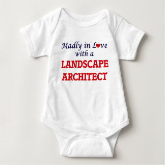 Madly in love with a Landscape Architect Baby Bodysuit