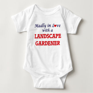 Madly in love with a Landscape Gardener Baby Bodysuit