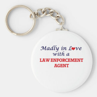 Madly in love with a Law Enforcement Agent Keychain