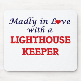 Madly in love with a Lighthouse Keeper Mouse Pad