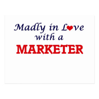 Madly in love with a Marketer Postcard