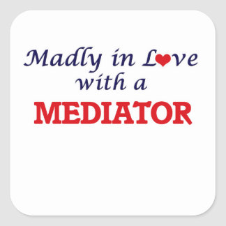 Madly in love with a Mediator Square Sticker