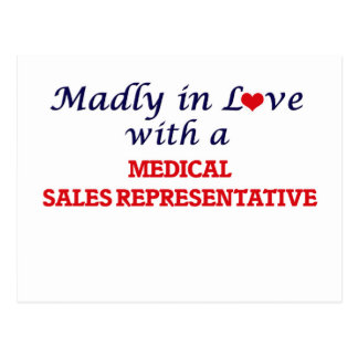 Madly in love with a Medical Sales Representative Postcard