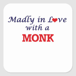Madly in love with a Monk Square Sticker