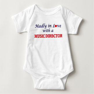 Madly in love with a Music Director Baby Bodysuit