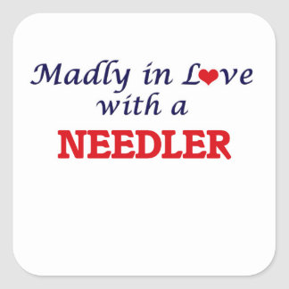 Madly in love with a Needler Square Sticker