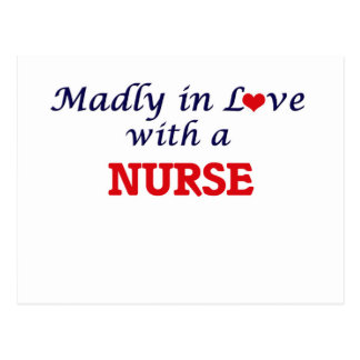Madly in love with a Nurse Postcard