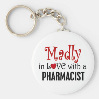 Madly In Love With A Pharmacist Basic Round Button Keychain