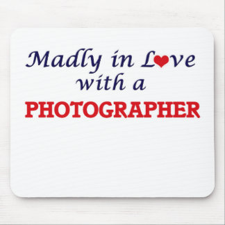 Madly in love with a Photographer Mouse Pad