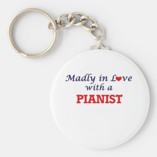 Madly in love with a Pianist Keychain