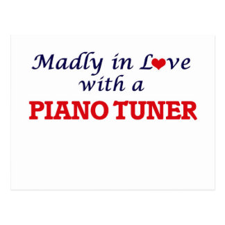 Madly in love with a Piano Tuner Postcard