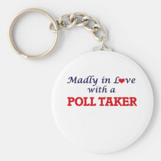 Madly in love with a Poll Taker Keychain