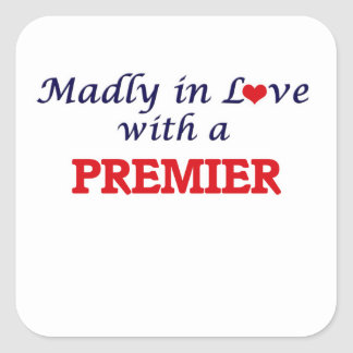 Madly in love with a Premier Square Sticker