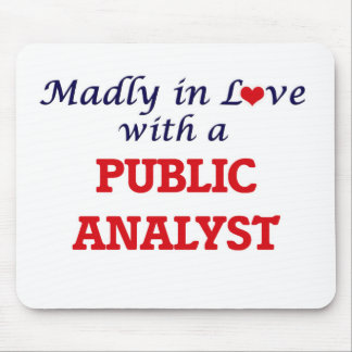 Madly in love with a Public Analyst Mouse Pad