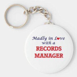 Madly in love with a Records Manager Keychain