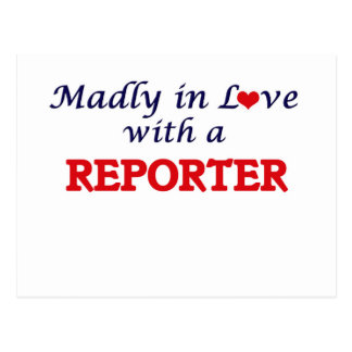 Madly in love with a Reporter Postcard