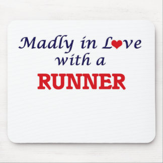 Madly in love with a Runner Mouse Pad