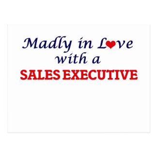 Madly in love with a Sales Executive Postcard