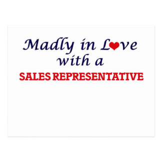 Madly in love with a Sales Representative Postcard