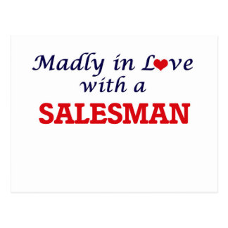 Madly in love with a Salesman Postcard