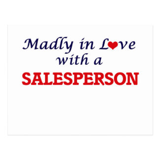Madly in love with a Salesperson Postcard