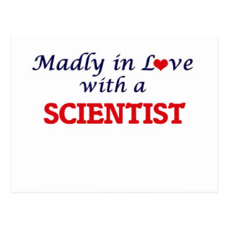 Madly in love with a Scientist Postcard