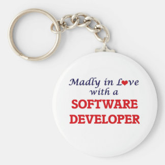 Madly in love with a Software Developer Keychain