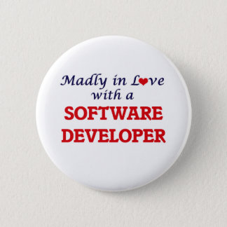 Madly in love with a Software Developer Pinback Button