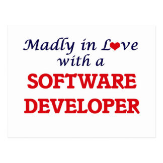 Madly in love with a Software Developer Postcard