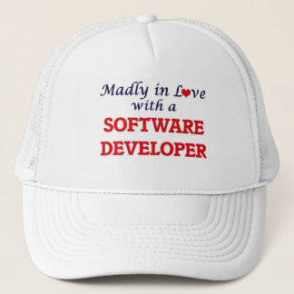 Madly in love with a Software Developer Trucker Hat
