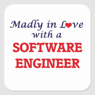 Madly in love with a Software Engineer Square Sticker