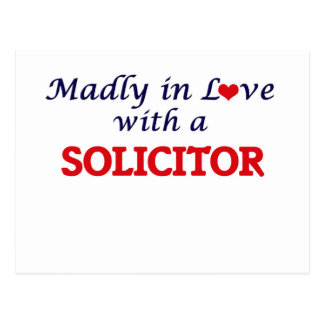 Madly in love with a Solicitor Postcard