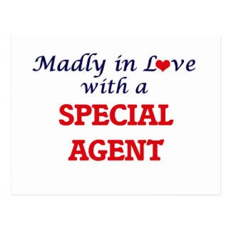 Madly in love with a Special Agent Postcard