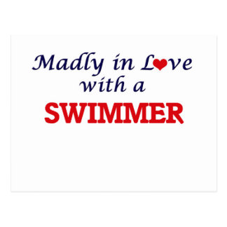 Madly in love with a Swimmer Postcard