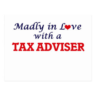 Madly in love with a Tax Adviser Postcard