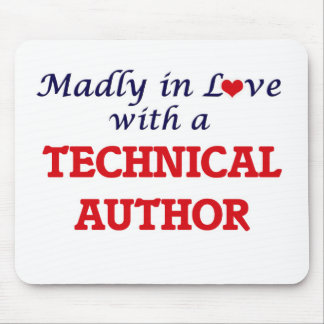 Madly in love with a Technical Author Mouse Pad