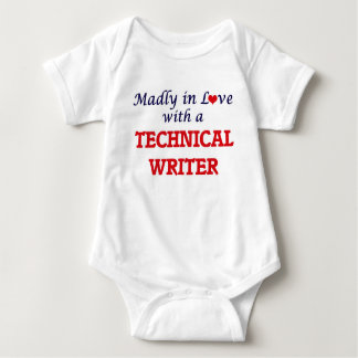 Madly in love with a Technical Writer Baby Bodysuit