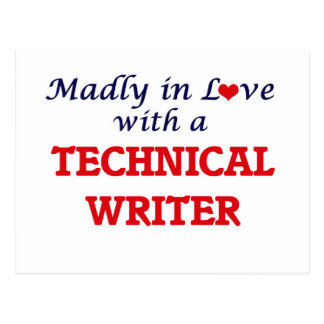 Madly in love with a Technical Writer Postcard