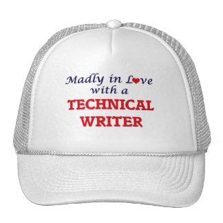 Madly in love with a Technical Writer Trucker Hat
