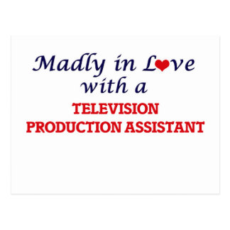 Madly in love with a Television Production Assista Postcard