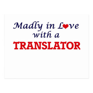 Madly in love with a Translator Postcard