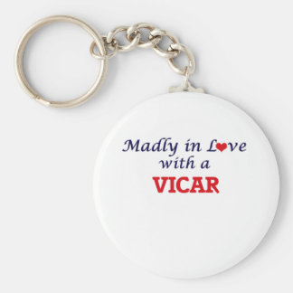 Madly in love with a Vicar Keychain