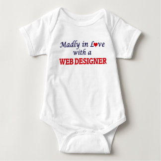 Madly in love with a Web Designer Baby Bodysuit