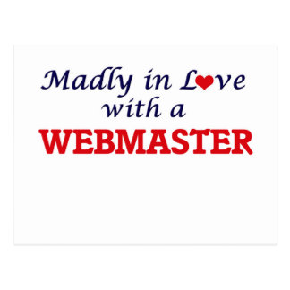 Madly in love with a Webmaster Postcard