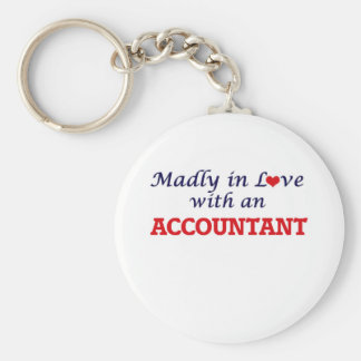 Madly in love with an Accountant Keychain