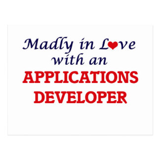 Madly in love with an Applications Developer Postcard