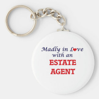 Madly in love with an Estate Agent Keychain