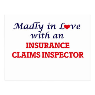 Madly in love with an Insurance Claims Inspector Postcard